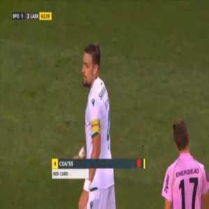 Sebastian Coates (Sporting) straight red card against LASK 63'