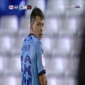 Gustavo Hamer (Coventry) straight red card against Bournemouth 69'