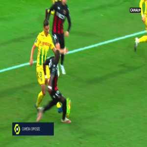 Andrei Girotto (Nantes) straight red card against Nice 3'