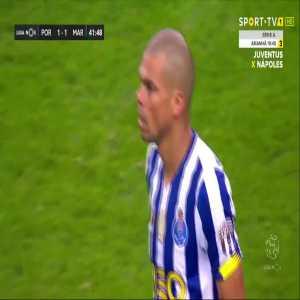 Porto [1]-1 Maritimo - Pepe 42'