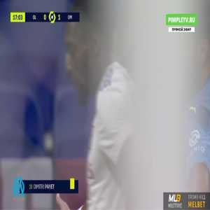Dimitri Payet (Marseille) straight red card against Lyon 19'