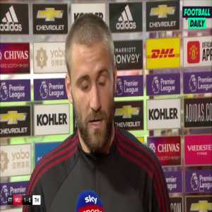 """Luke Shaw:""""Mistakes after mistakes. The red card didn't help but even before that, after the first goal we switched off. A club like Manchester United shouldn't be losing in this way. As a team collectively, we're nowhere near it at the moment. 