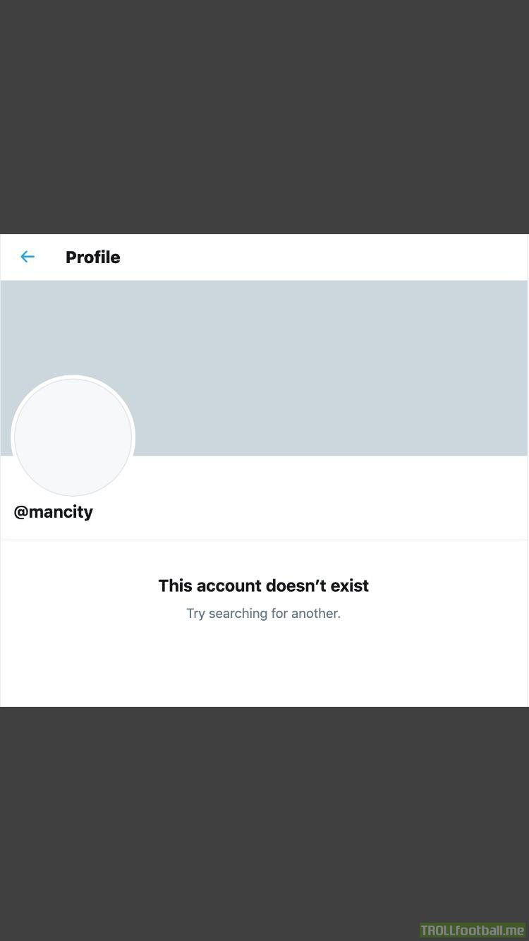 The official Man City account has just been suspended on Twitter