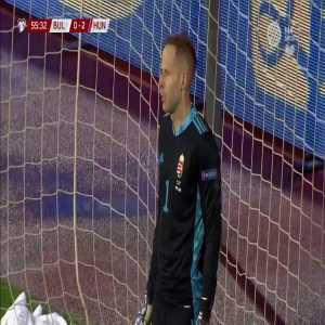 Bulgaria vs Hungary penalty decision reversed by VAR: foul outside of penalty box