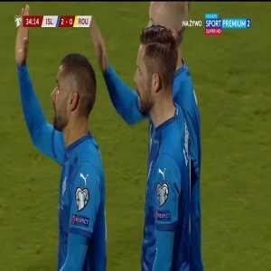 Iceland 2-0 Romania - Gylfi Sigurðsson 34'