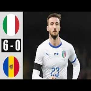 Italy vs Moldova 6-0 07/10/2020