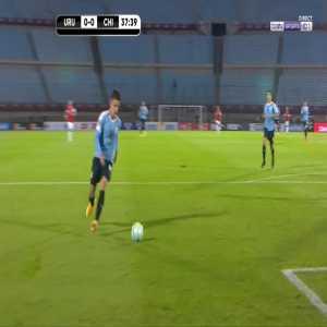 Uruguay 1-0 Chile - Luis Suarez penalty 38'