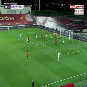 Spain [1] - 0 Switzerland - Oyarzabal 14'