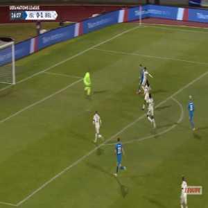 Iceland [1]-1 Belgium - Birkir Saevarsson 17'