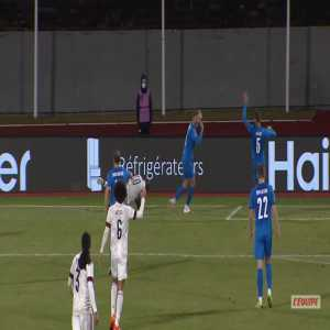 Iceland 1-[2] Belgium - Romelu Lukaku penalty 38'