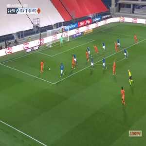 Italy 1-[1] Netherlands - Donny van de Beek 25'