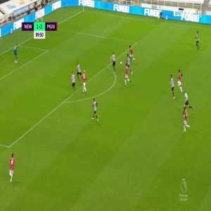 Newcastle 1 - [3] Manchester United - Aaron Wan-Bissaka 90'