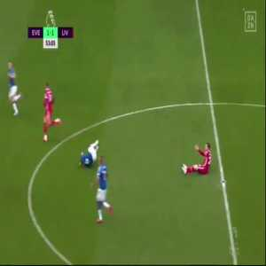 Robertson off the ball tackle on Allan 53'