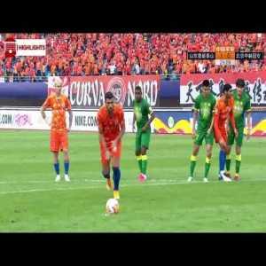 Shandong Luneng [1] - 0 Beijing Guoan - Graziano Pelle Penalty Goal 25' + Call