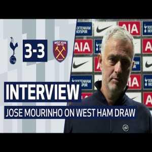 INTERVIEW | JOSE MOURINHO ON WEST HAM DRAW | Spurs 3-3 West Ham