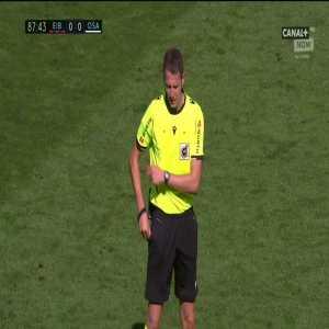 Jon Moncayola (Osasuna) second yellow card vs. Eibar (88')