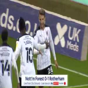 Nottingham 0-1 Rotherham - Daniel Barlaser penalty 51'