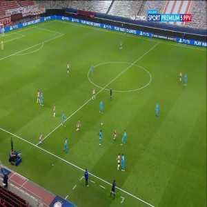 Giorgos Masouras (Olympiacos) disallowed goal vs. Olympique Marseille (52')