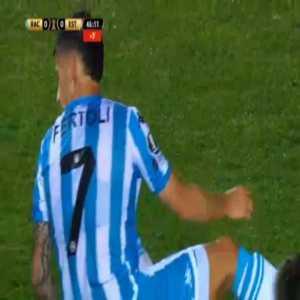 Hector Fertoli (Racing Club) penalty miss against Estudiantes de Mérida 45'+1'