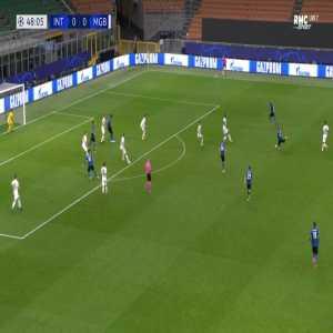 Inter 1-0 Monchengladbach - Romelu Lukaku 49'