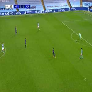 Manchester City vs Porto: Sterling/Pepe Incident and Rodri shot 83'