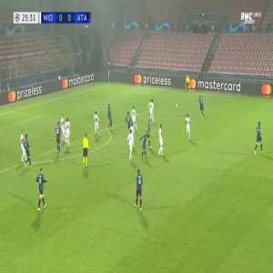 Midtjylland 0-1 Atalanta - Duvan Zapata 26'