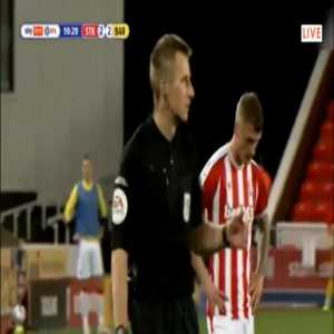 Nathan Michael Collins (Stoke) straight red card against Barnsley 60'