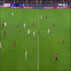 Nzonzi roulette to recovery the ball against Krasnodar