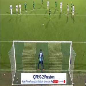 QPR 0-2 Preston - Scott Sinclair penalty 60'