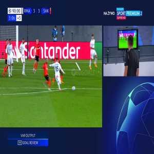 Real Madrid Vs Shakhtar Donetsk | Real Madrid disallowed goal 90+3