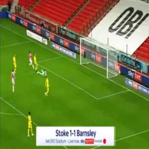 Stoke [1]-1 Barnsley - Tyrese Campbell 44'