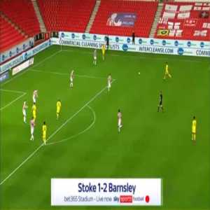 Stoke 1-[2] Barnsley - Dominik Frieser 45'+1'