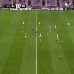 Braga 2-0 AEK - Paulinho 78'
