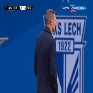 Lech Poznań [1]-1 Benfica - Mikael Ishak 15'
