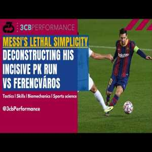 """[OC] Deconstructing Messi's incisive run vs Ferencváros to earn a PK: """"Lethal simplicity"""" 