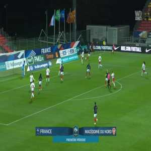 "France W 1-0 North Macedonia W - Valerie Gauvin 11"""