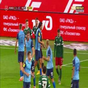 Anton Miranchuk (Lokomotiv Moscow) penalty miss against Rotor Volgograd 82'