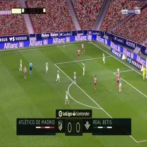 Atlético Madrid 1-0 Betis - Marcos Llorente 46'