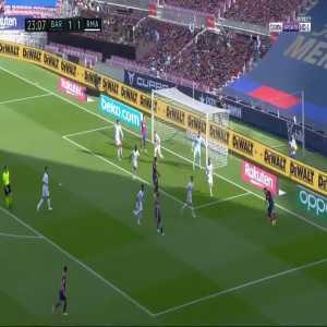 Lionel Messi skill against Sergio Ramos
