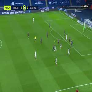 Neymar attempting a flick inside his own half instead of starting a counter attack