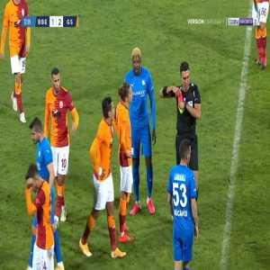 Radamel Falcao (Galatasaray) second yellow card against Erzurum BB 73'