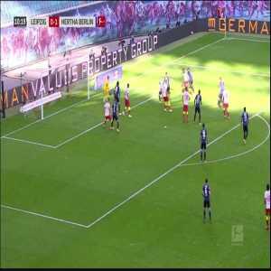 RB Leipzig [1]-1 Hertha - Upamecano 11'