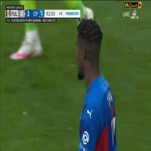 Zaha goal vs. Fulham disallowed for offside 90+3