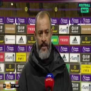 """Nuno's thoughts on the goal they conceded as a former goalkeeper himself: """"The ball cannot go in on that side of the wall. It is fine if it goes over the wall but on the short corner, it cannot go in."""""""