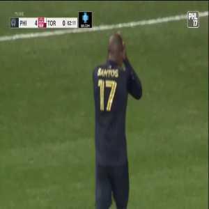 Philadelphia Union [4] - 0 Toronto FC : Santos 63'