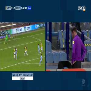 Vitesse 2-1 PSV | No penalty given overruled by var in last minute