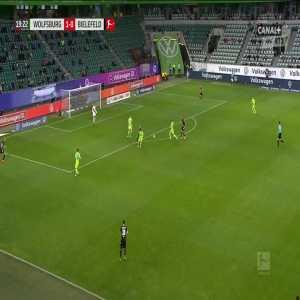 Wolfsburg 2-0 Arminia Bielefeld - Maximilian Arnold 20'