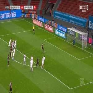 Bayer Leverkusen 1-0 Augsburg - Lucas Alario PK 16'
