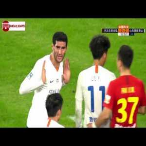 Fellani's 94' match winner is disallowed by the ref, who refuses to check VAR - Hebei CFFC 2 - 2 Shandong Luneng