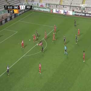 Omonia 1-[2] PSV - Donyell Malen 90'+2'